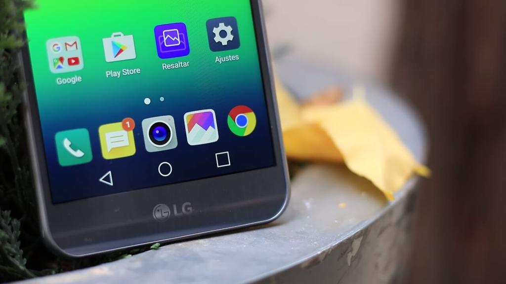 LG X Cam logo cepillado