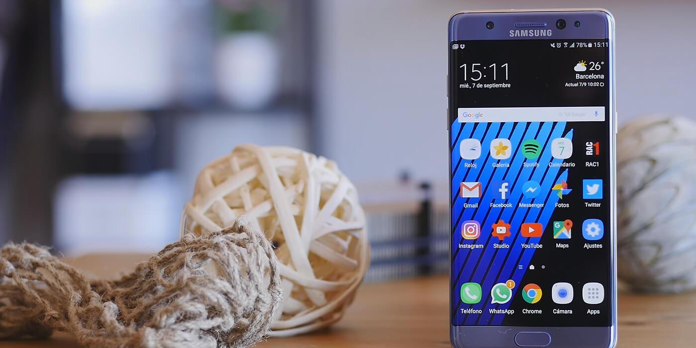 Portada del Samsung Galaxy Note 7