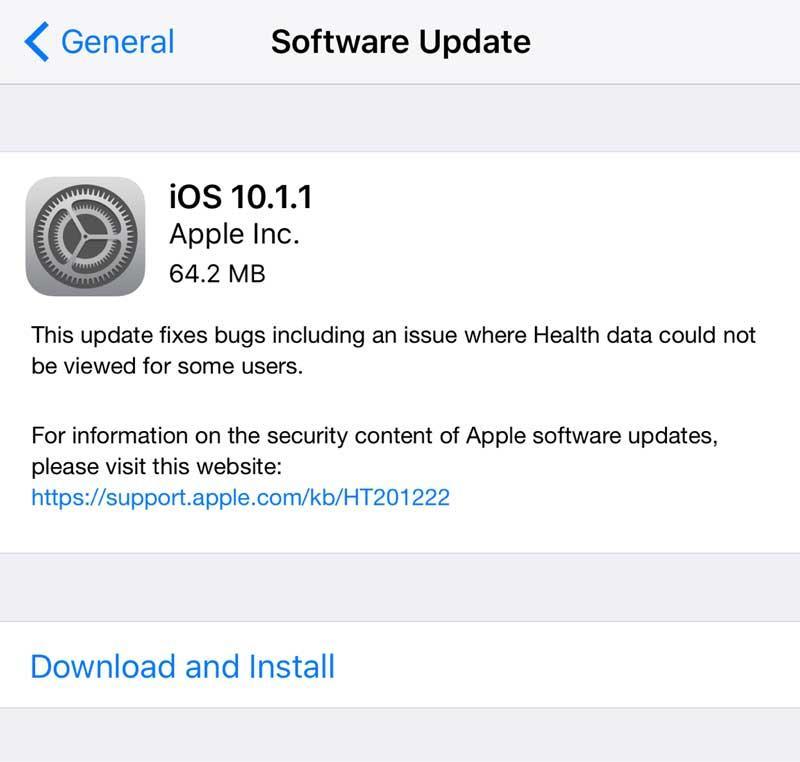 iOS 10.1.1 problemas de batería