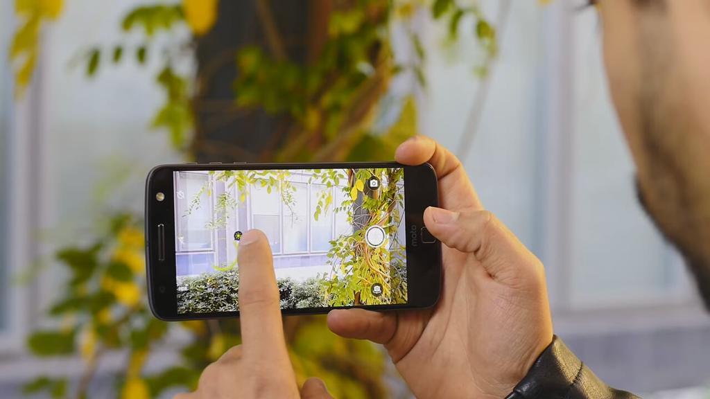 Aplicación cámara del Moto Z