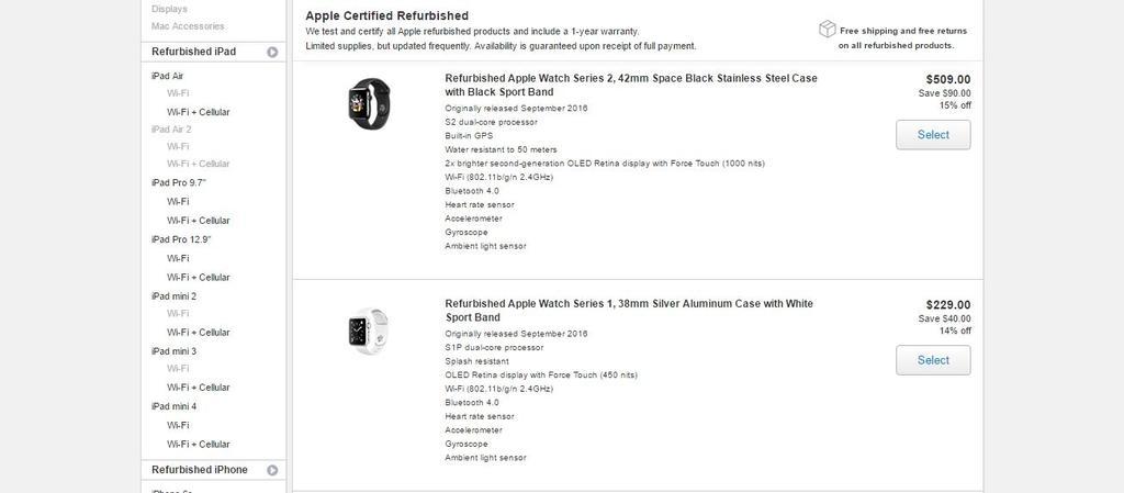 Apple Watch reacondicionados en tienda