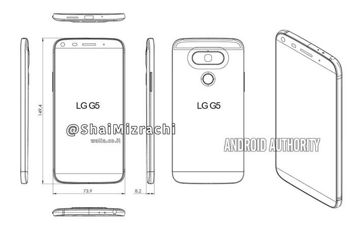 Diagrama del LG G5