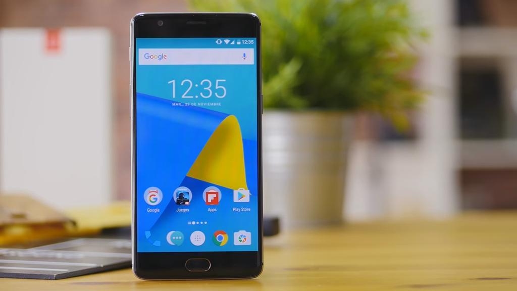 Imagen frontal del OnePlus 3T