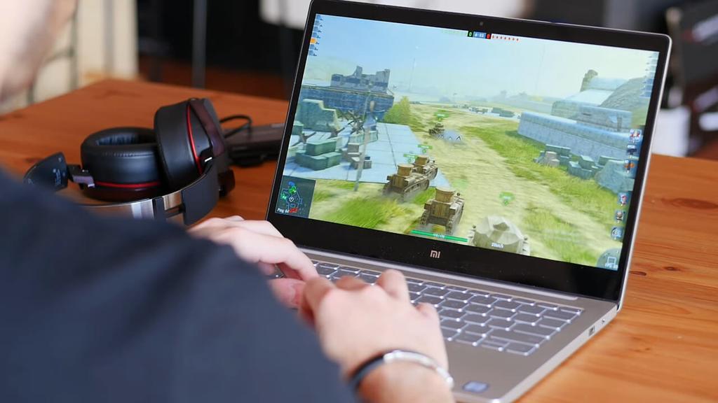 Ejecución de juego en el Xiaomi Mi Notebook Air