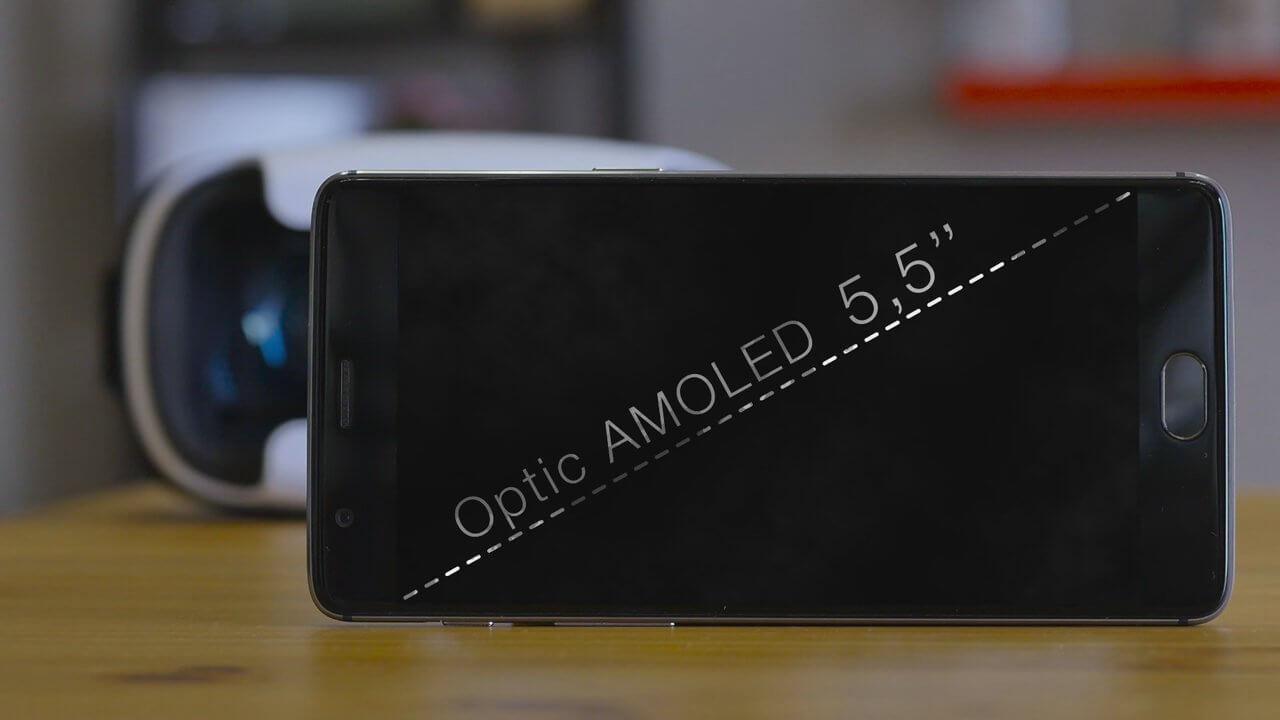 OnePlus 3 pantalla amoled