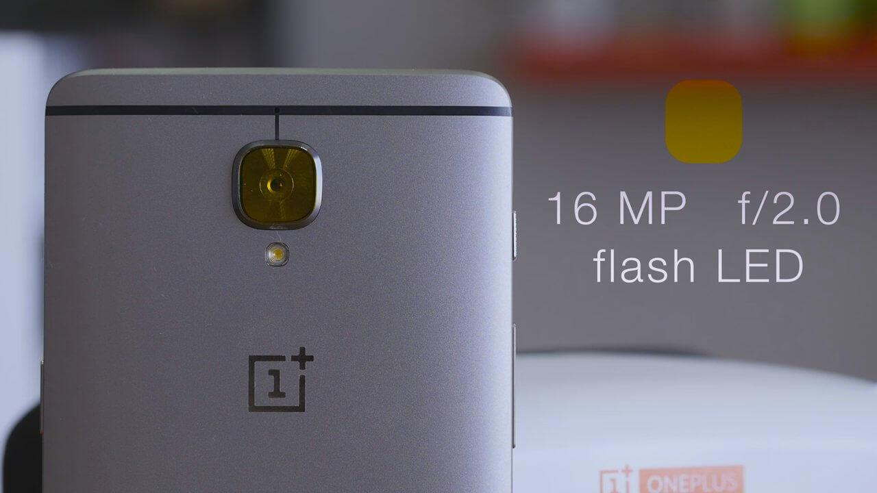 OnePlus 3 cámara trasera