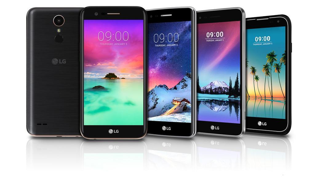 Nueva gama LG K que presentará LG en la feria CES