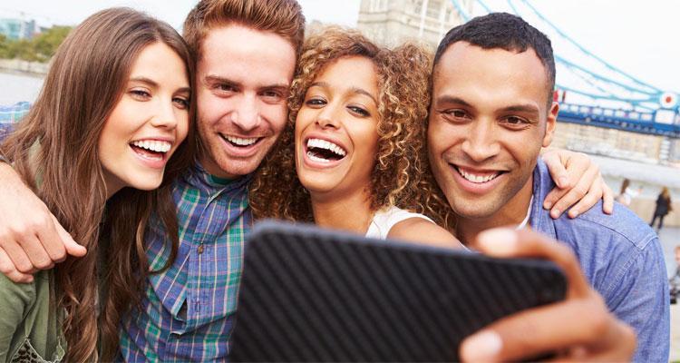 Foto tipo selfie con smartphone