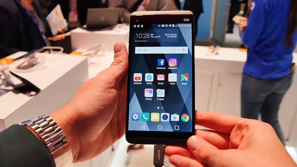 Frontal del teléfono LG V20