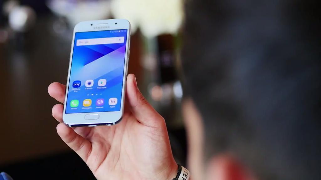 Frontal del Samsung Galaxy A3 2017
