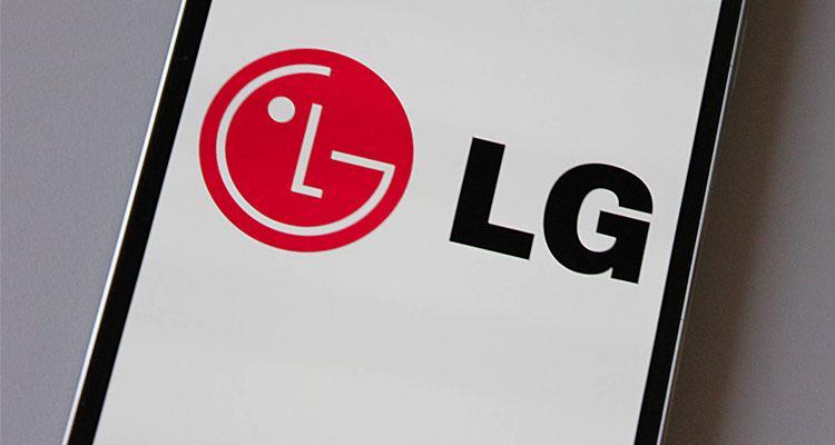 Logotipo de LG en un teléfono