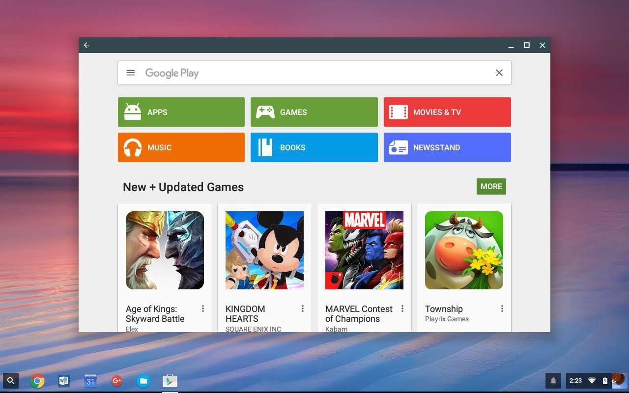Play Store en Chromebook