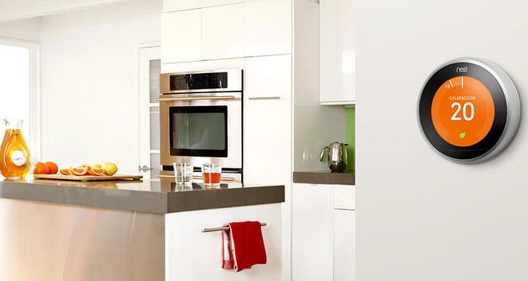 Termostato de Nest en cocina