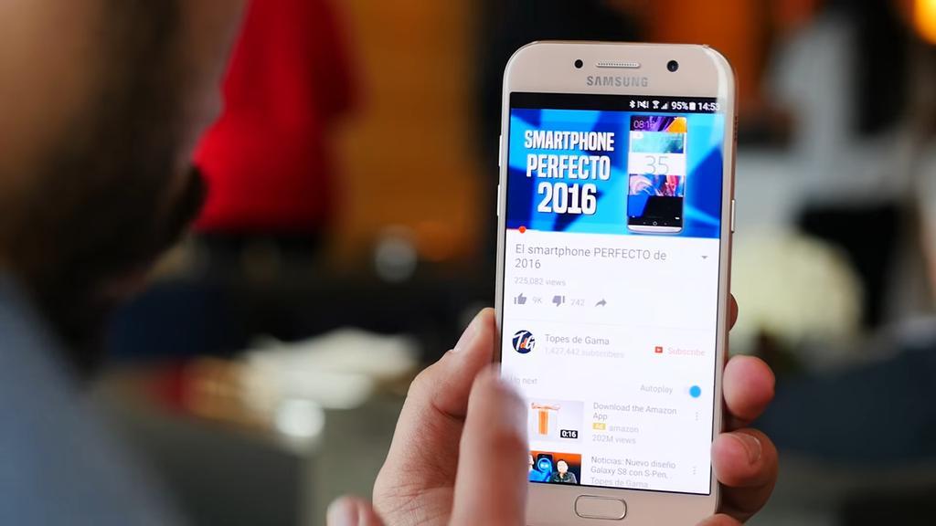 Uso del teléfono Samsung Galaxy A5 2017