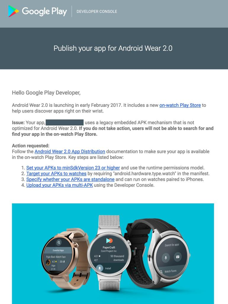 Correo de Google para ANdroid Wear febrero