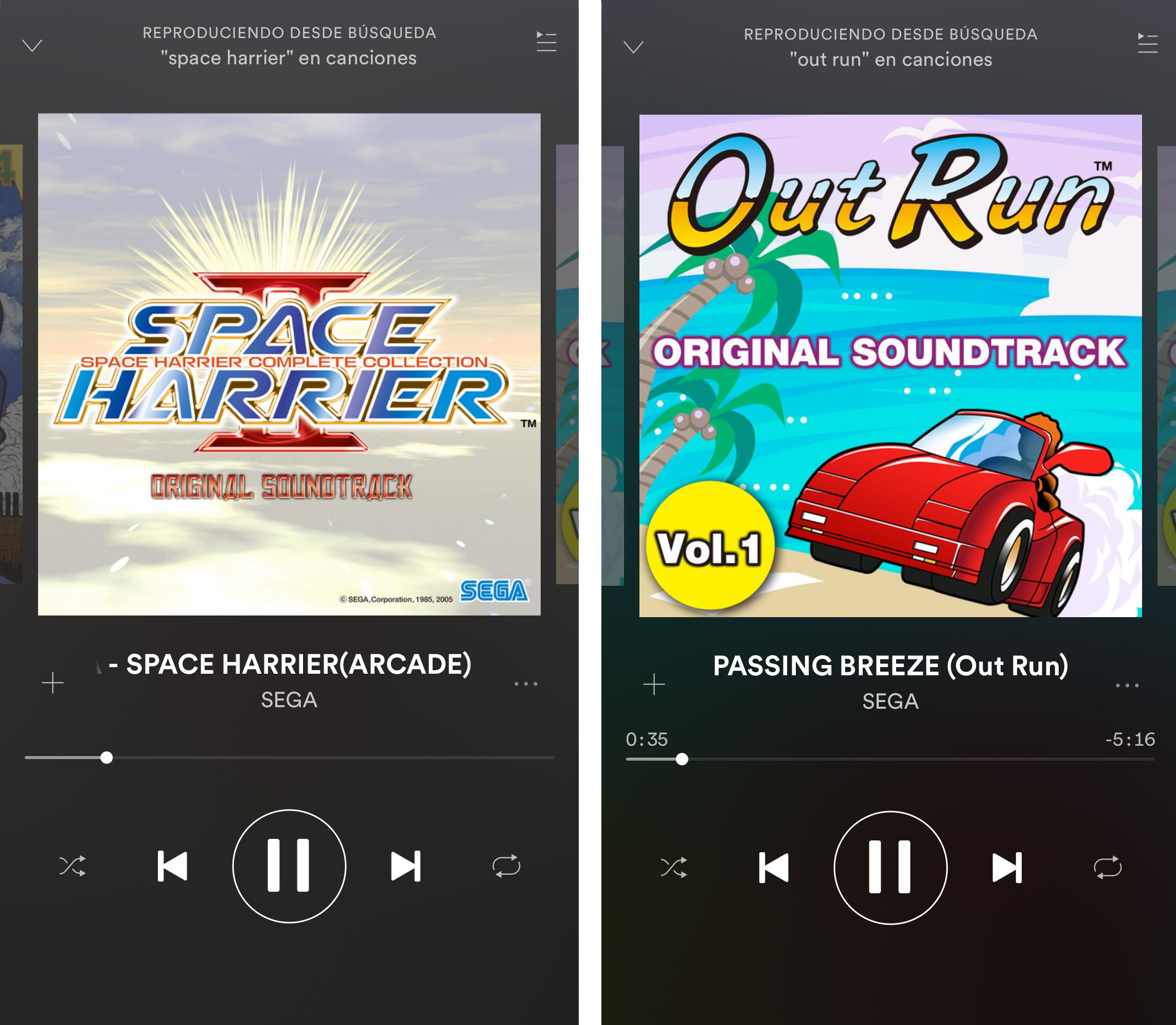 SEGA música en Spotify