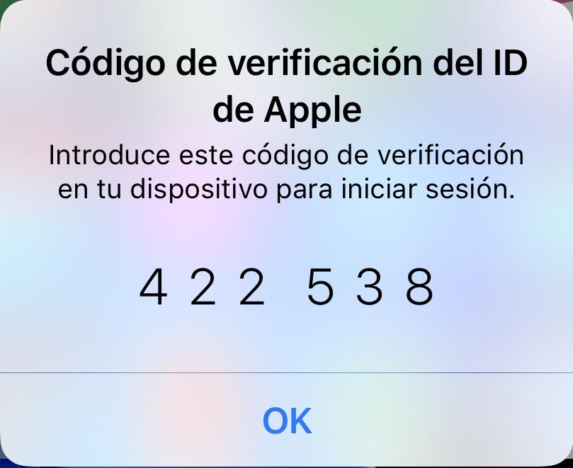 Verificación dos pasos ID de Apple