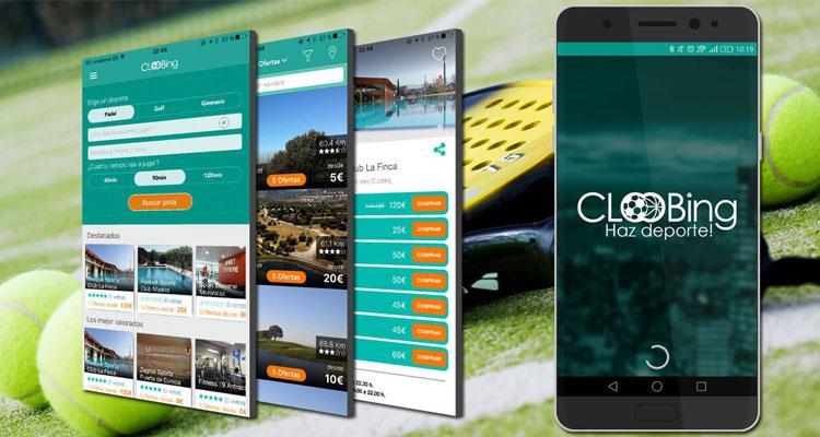 Interfaz de la aplicaicón Cloobing