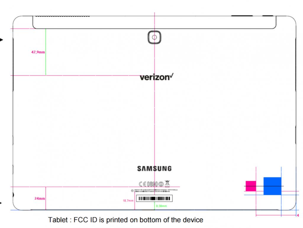 Imagen tarsera del Samsung Galaxy TabPro S2