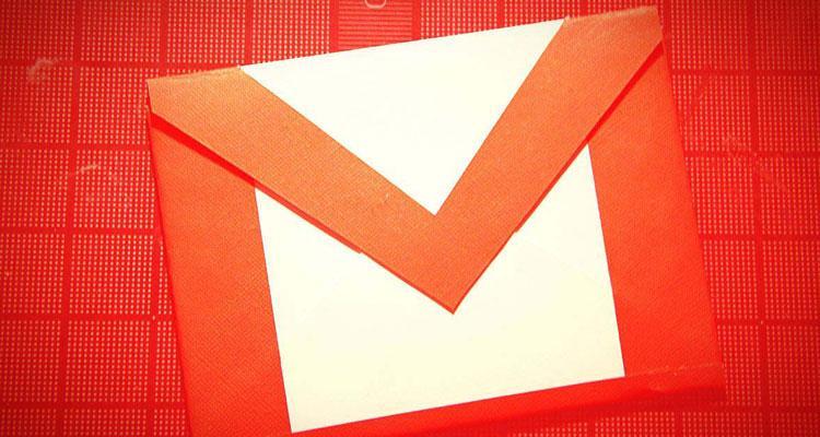 Logotipo de Gmail con fondo rojo