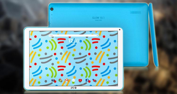 Tablet SPC Glow 10.1 con fondo cristal
