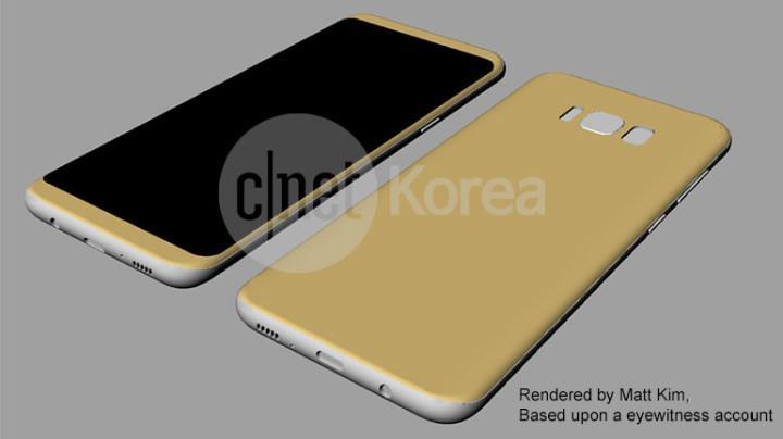 Aspecto esquemático del Samsung Galaxy S8