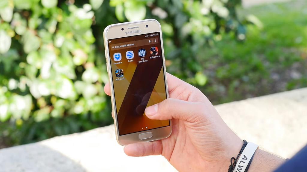 Uso del Samsung Galaxy A3 2017
