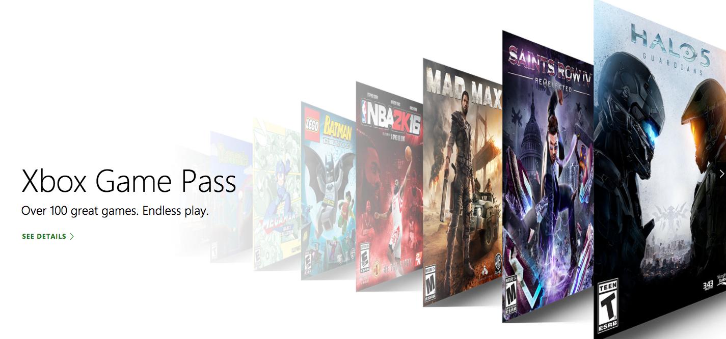 Game Pass de Microsoft para Xbox One