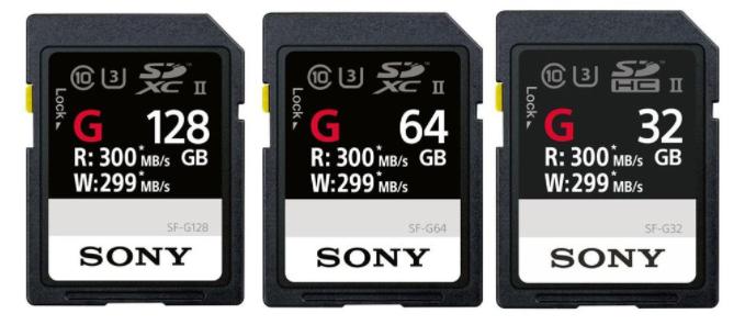 Tarjetas SD de Sony.