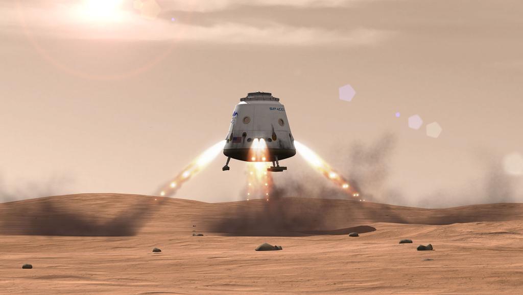 Aterrizaje de SapaceX en Marte