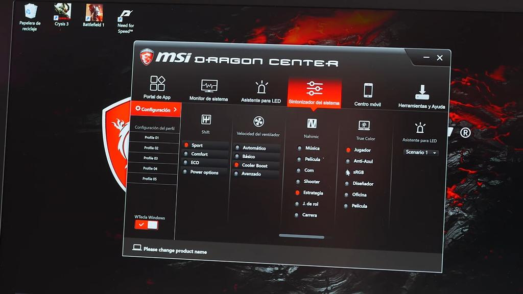 Software del MSI GS63VR