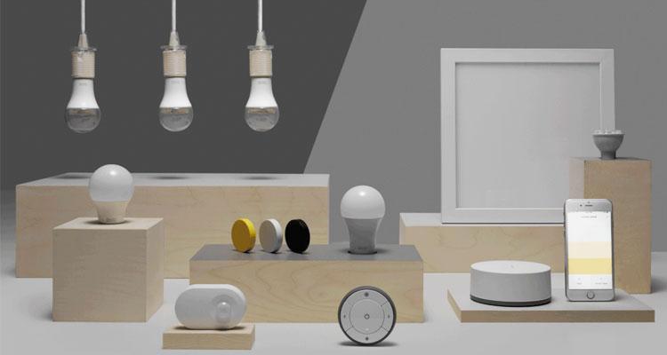 Bombillas coenctadas de IKEA