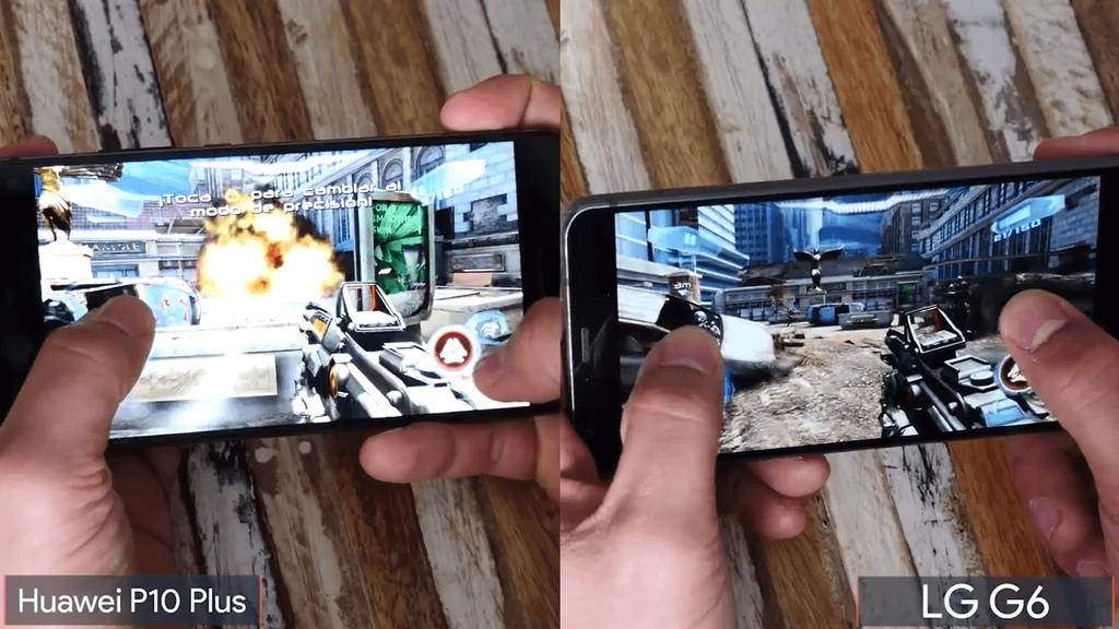 Ejecución de juego Huawei P10 Plus vs LG G6