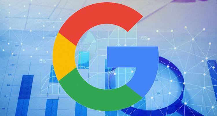 Logo de Google con fondo azul