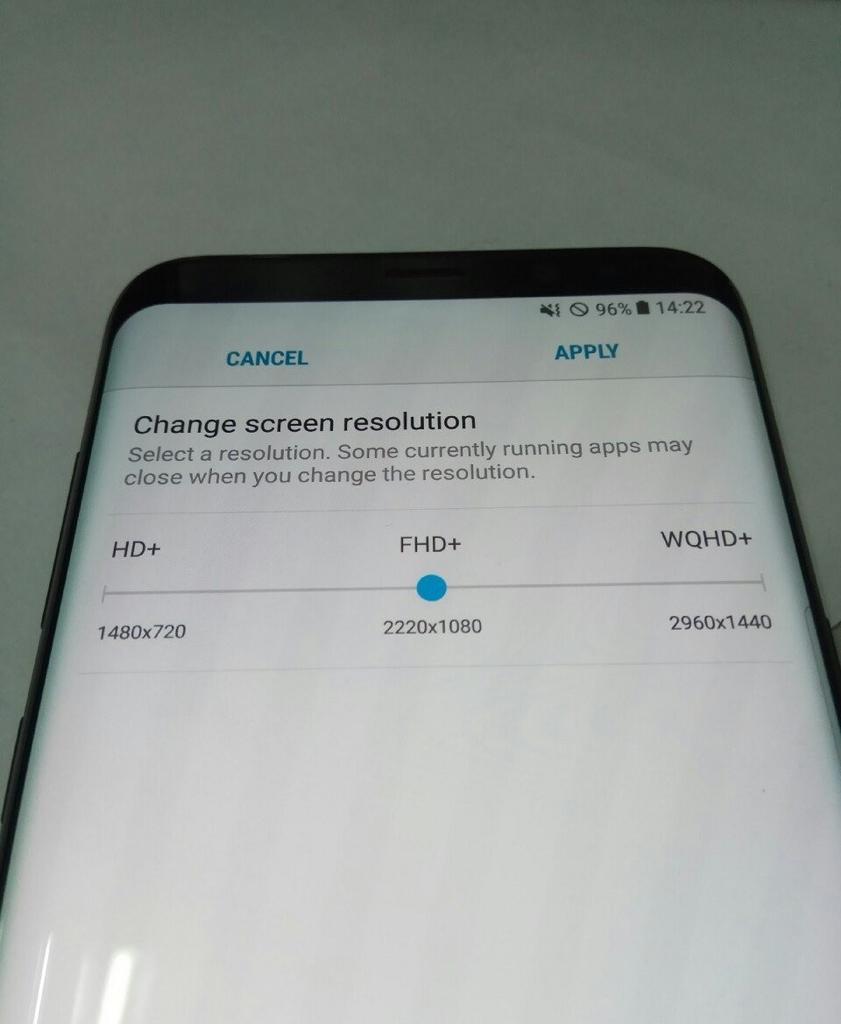 Potenciales resoluciones del Samsung Galaxy S8