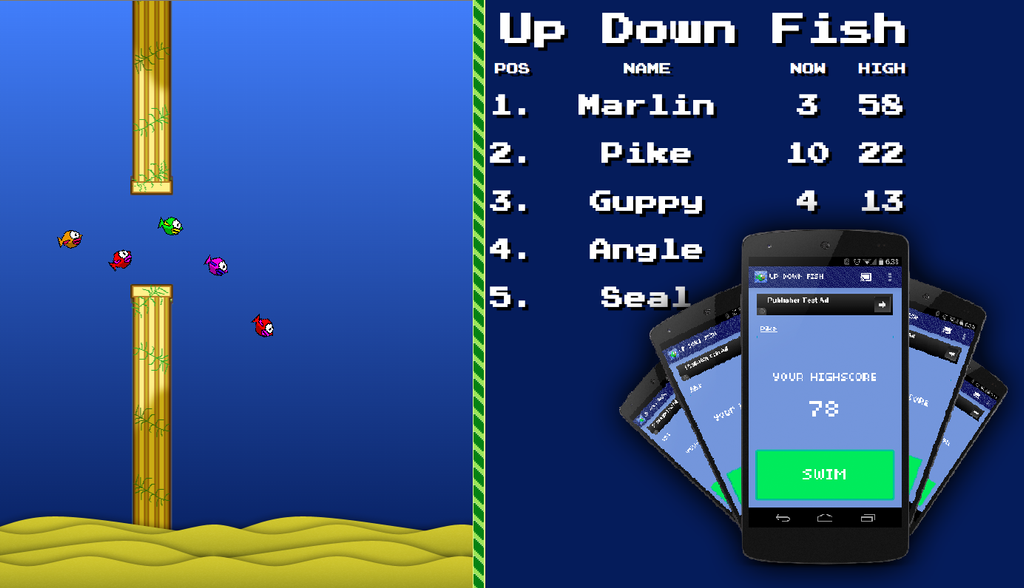 Juego Up Down Fish para Chromecast