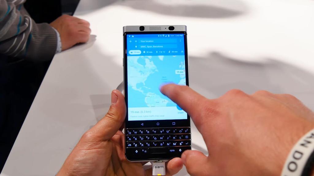 Uso del teléfono BlackBerry KEYone