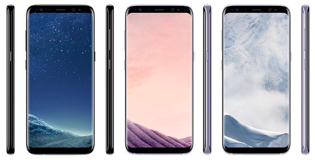 Gama de colores del Samsung Galaxy S8