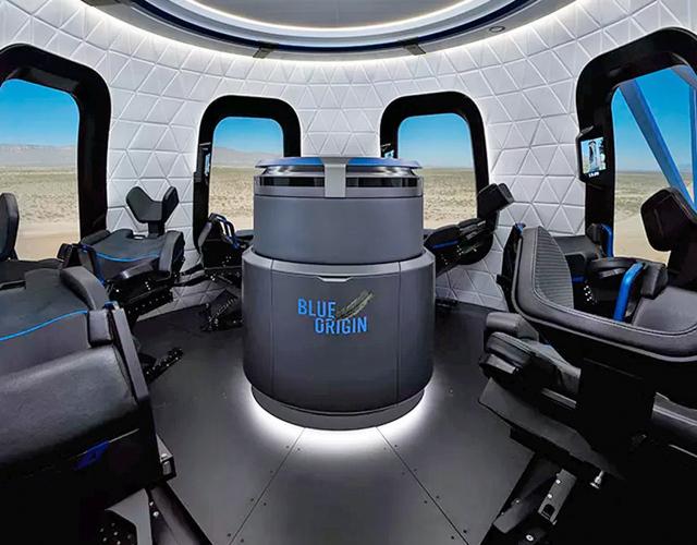 Imagen del interior de las cápsulas espaciales