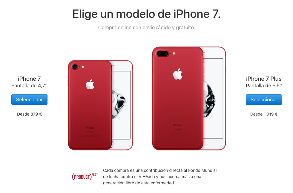 iPhone 7 RED comprar