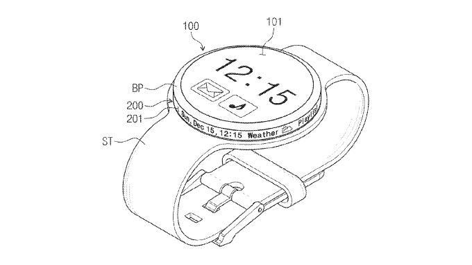 Samsung patente segunda pantalla smartwatch
