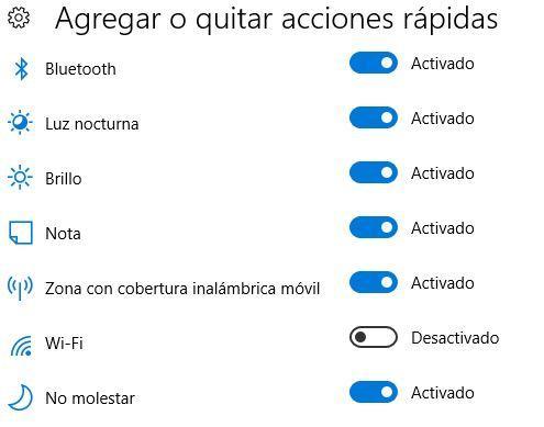 Añadir acciones rápidas en Windows 10 Creators Update