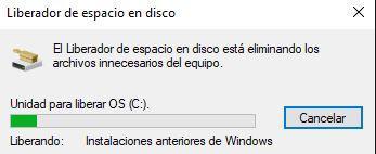 Borrado de archivos de instalación de Windows Creators Update