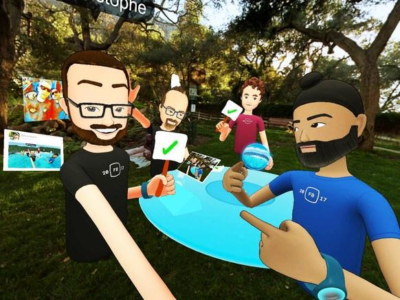 Entorno de Facebook Spaces