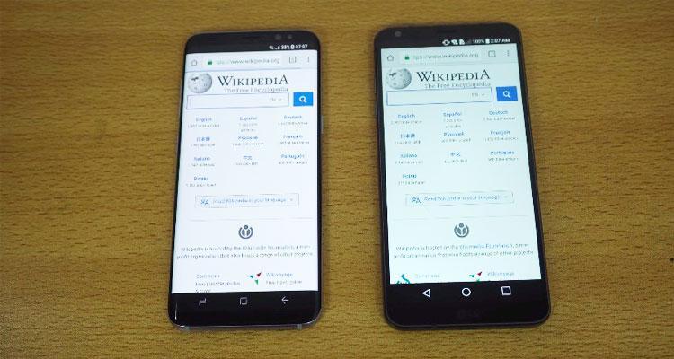 LG G6 vs Samsung Galaxy S8