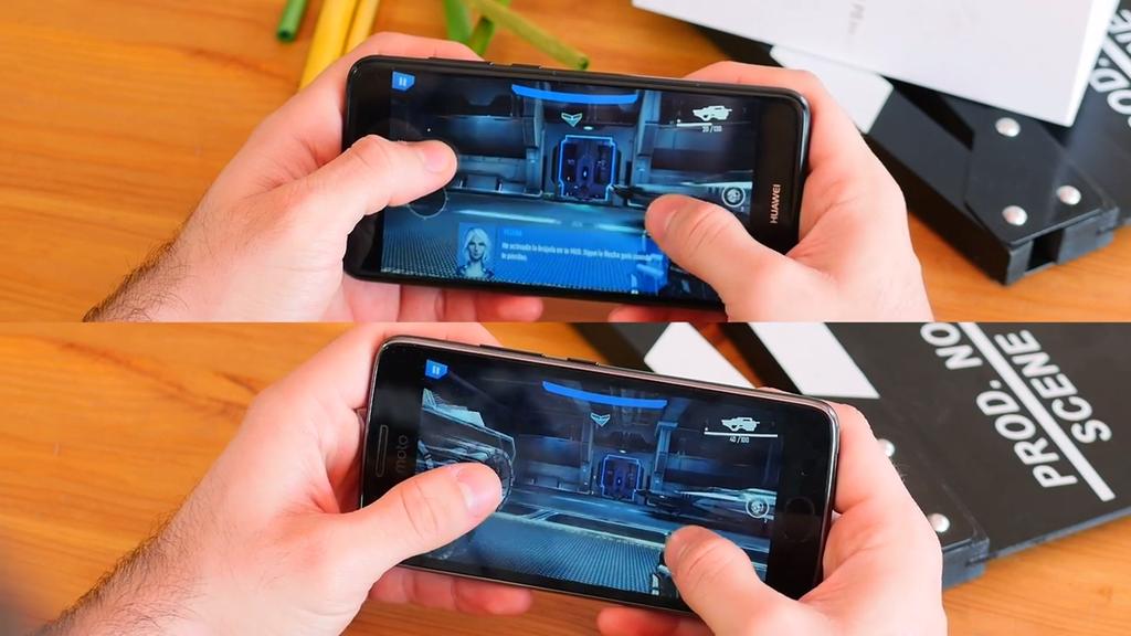 Ejecución de juego Moto G5 frente al Huawei P8 Lite 2017