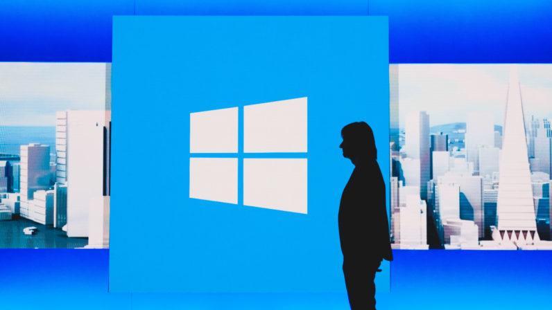 Logotipo de Windows con fondo azul