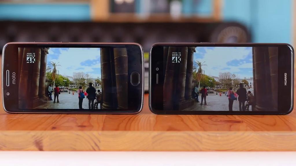 Pantalla de la comparativa Moto G5 frente al Huawei P8 Lite 2017