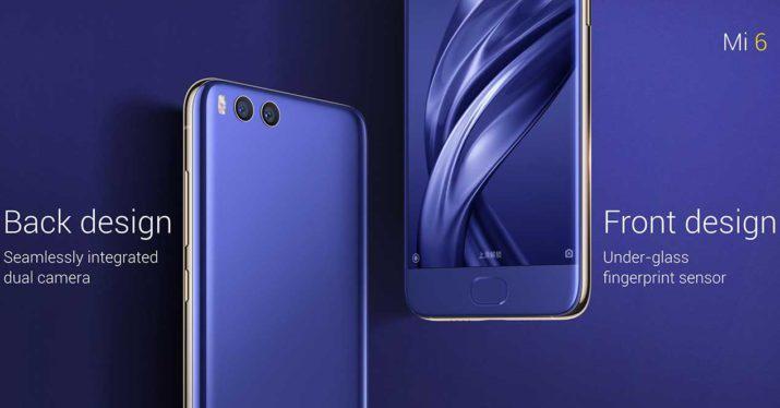 Diseño del Xiaomi Mi 6