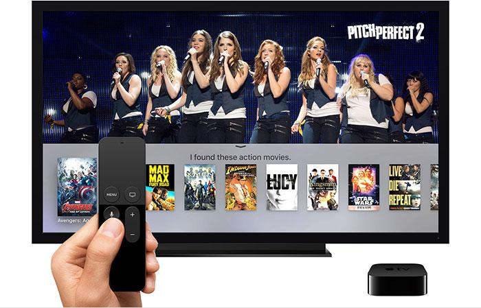 Uso del mando a distancia de Apple TV con Siri